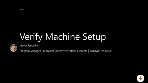 01.02 Verify Machine Setup