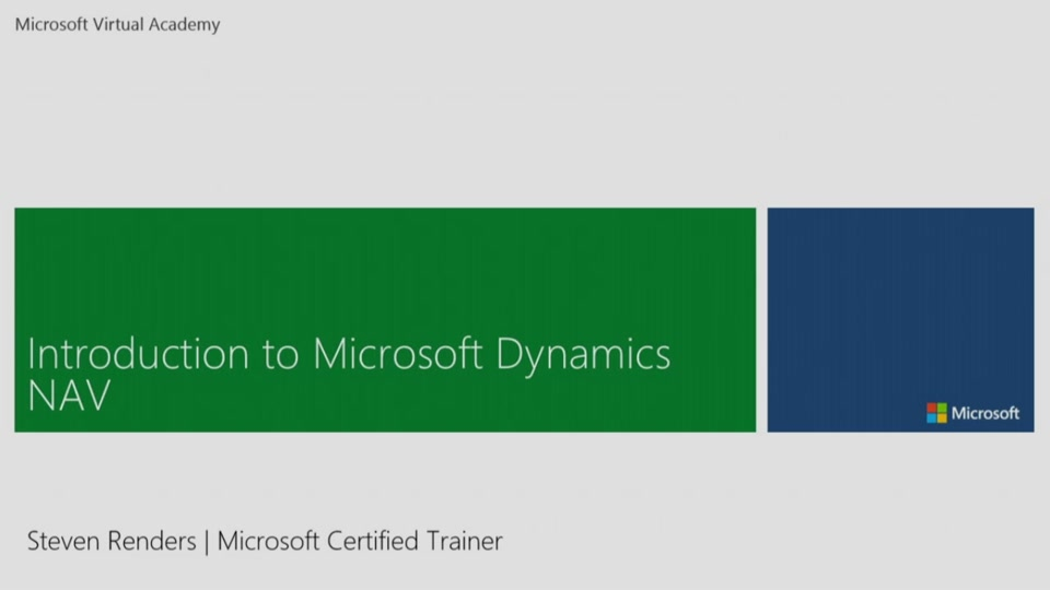 Introduction To Microsoft Dynamics Nav Channel 9