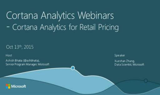 Cortana Analytics for Retail Pricing