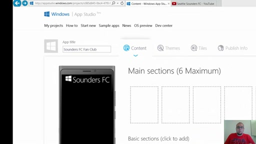 Adding YouTube videos to a Windows App Studio app