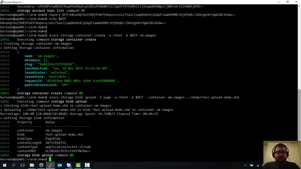Creating a Linux VM from a custom image with Azure Resource Manager (ARM)