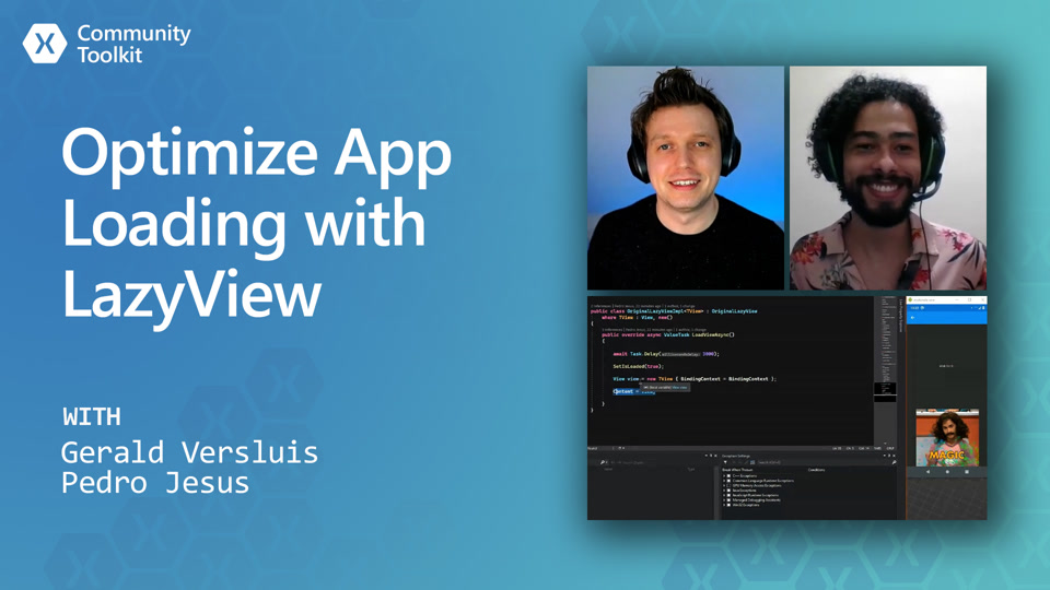 Xamarin Community Toolkit - Optimize App Loading with LazyView