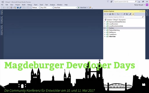 Magdeburger Developer Days: C# 7 – was gibt es Neues?