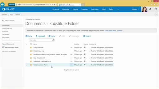 Create and Share a Substitute Folder in OneDrive