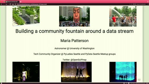 Building a community fountain around your data stream