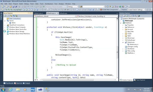 Windows Azure Blob – Simple Approach
