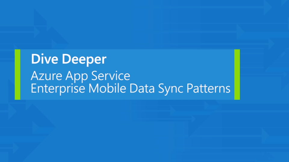 Azure App Service: enterprise mobile data sync