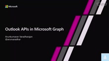 Outlook APIs in Microsoft Graph