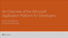 Review the Microsoft application platform for developers