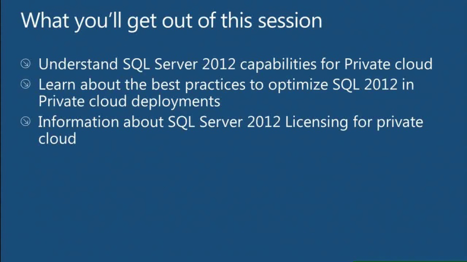 Get More out of SQL Server 2012 in the Microsoft Private Cloud environment