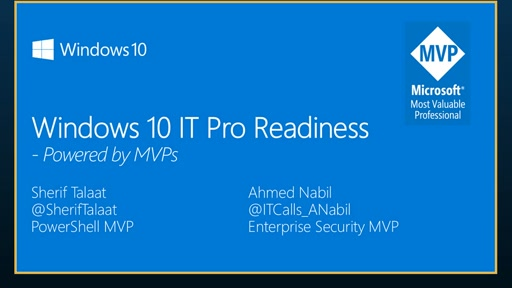 Windows 10 IT Pro Readiness [Egypt]