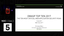 Talk: Web Application Security Risks: A Look at OWASP Top Ten 2017