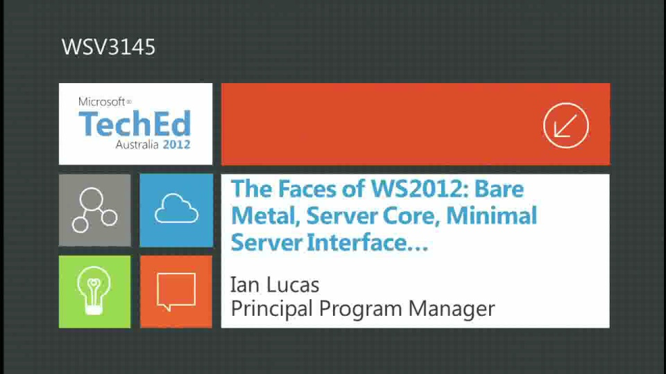 The Faces of WS2012: Bare Metal, Server Core, Minimal Server Interface…