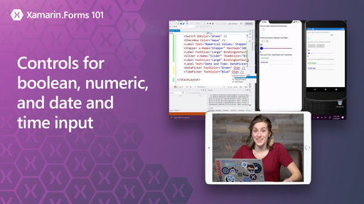 Xamarin.Forms 101: Controls for boolean, numeric, and date and time input