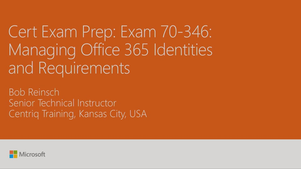 Cert Exam Prep Exam 70 345 Designing And Deploying Microsoft