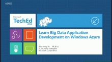 Learn Big Data Application Development on Windows Azure