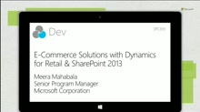 E-commerce solutions with Dynamics for Retail & SharePoint 2013