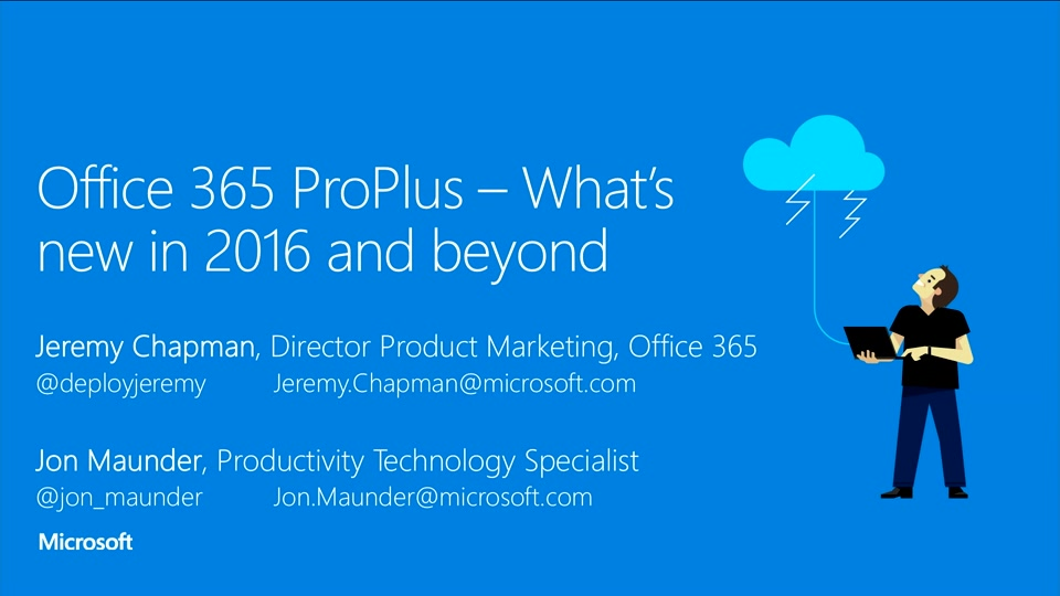 Office 365 Proplus What S New In 2016 And Beyond
