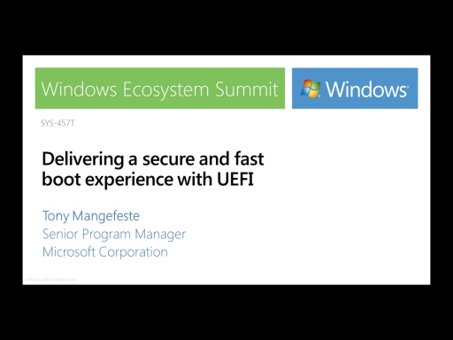 Delivering a secure and fast boot experience with UEFI