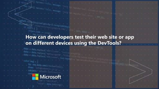 How can developers test their web site or app on different devices using the DevTools | One Dev Question