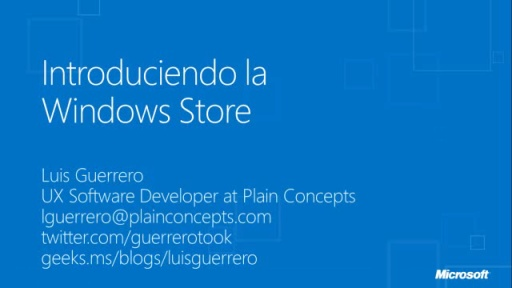 Windows 8 para desarrolladores. Introducción a la Windows Store