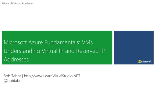11. Microsoft Azure Fundamentals: Virtual Machines - Understanding Virtual IP and Reserved IP Addresses [Vietnamese Subtitles]