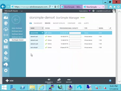 StorSimple: Recover deleted files with StorSimple