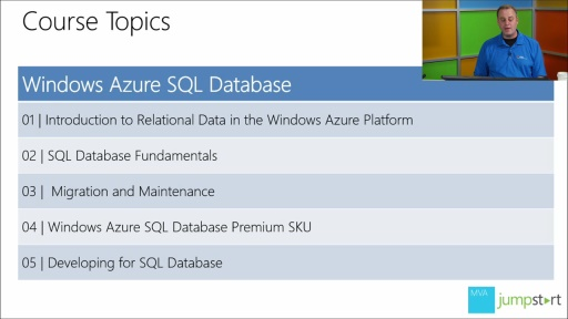 Windows Azure SQL Database: (01) Introduction to Relational Data in the Windows Azure Platform