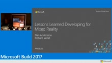 Lessons learned developing for mixed reality