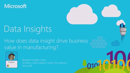 How does data insight drive business value in manufacturing?