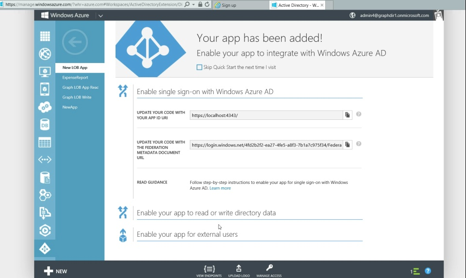 Programming Windows Azure Active Directory - Deep Dive