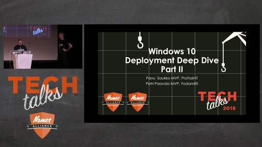 Tech Talks 2016 Citrix Stage Windows 10 Käyttöönoton Deep Dive 2