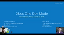 What's New From Build 2016: Xbox One Dev Mode