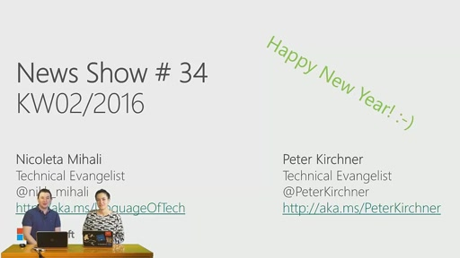 News Show #34: Microsoft loves Linux, Debian in Azure, SQL Server in Azure VMs, Windows 10 Deployment, ASP.NET WebHooks, Ruby 2.3, Windows App Studio Update, Aufzeichungen vom Technical Summit 2015, neue MVA-Kurse, kostenfreies E-Book für SQL Server 2016