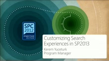 Customizing Search Experiences in SharePoint 2013