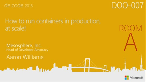 How to run containers in production, at scale!