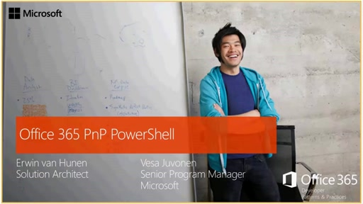 PnP Web Cast - Introduction to Office 365 PnP PowerShell
