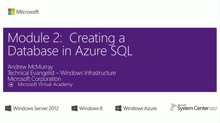 (Module 2) Creating a Database in Microsoft Azure