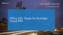 T9 - Productivity: Office365 Skype for Business Cloud Pbx