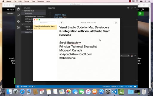 5. Integration with Visual Studio Online