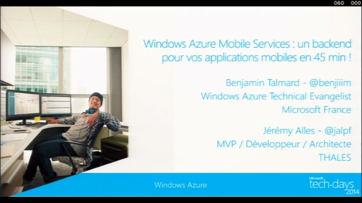 Windows Azure Mobile Services : un backend pour vos applications mobiles en 45 min !