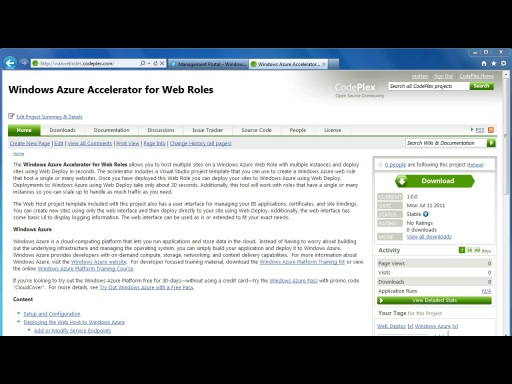 Getting Started with the Windows Azure Accelerator for Web Roles