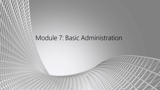 SQL Server Essentials for Oracle DBAs: (07) Basic Administration