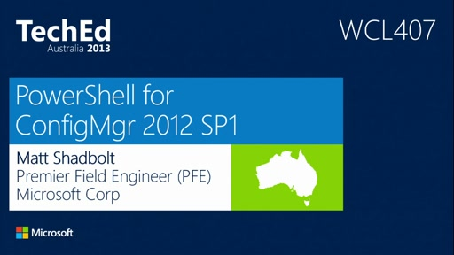 PowerShell for ConfigMgr 2012 SP1