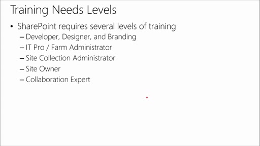SharePoint 2013 Best Practices: (03) Training - Key to Success