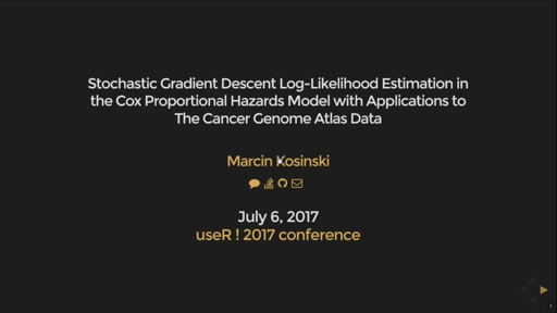 Stochastic Gradient Descent Log-Likelihood Estimation in the Cox Proportional Hazards Model with Applications to The Cancer Genome Atlas Data