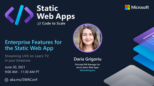 Static Web Apps and the Production API with Daria Grigoriu