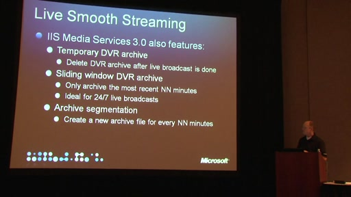 Live Broadcasting with Silverlight and Windows Media - Streaming Media West 2009