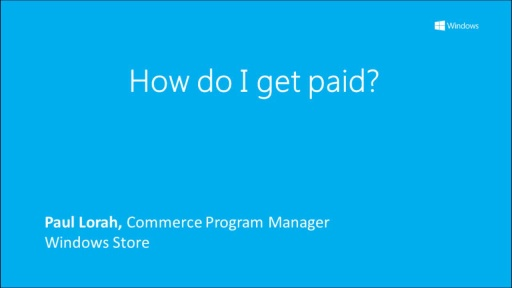 Windows Store: How do I get paid?