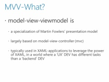 Architecting Your App: MVVM